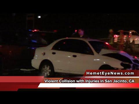 Violent Traffic Collision; Sanderson and Ramona Expressway