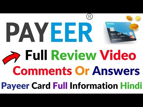 Payeer Account Review Payeer International Card Full Information Details Hindi Video