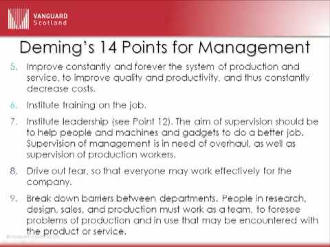 Deming's14 points for Management