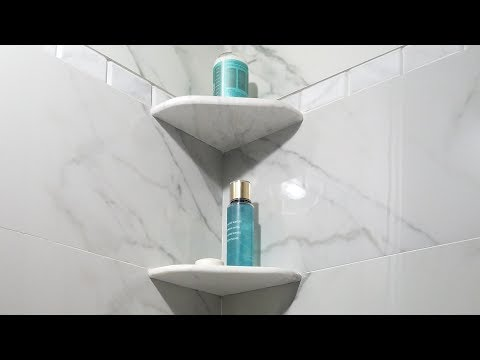 DIY Easy & Strong Installation of Shower Corner Shelf. EZ-Mount