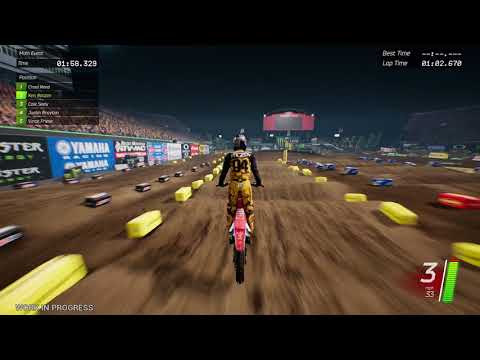 Monster Energy Supercross: The Official Videogame [Switch/PS4/XOne/PC] Gameplay Montage
