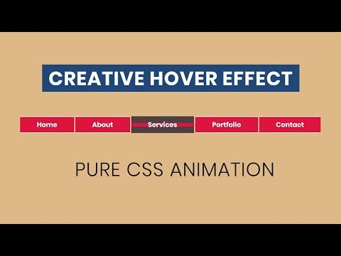 Awesome CSS Menu Hover Effect   CSS Creative Menu Hover Effects