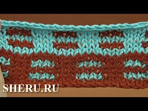 How To Knit Jacquard Stitch Pattern Tutorial 22 Вязание спицами