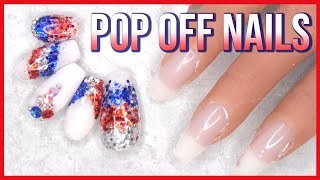 Acrylic Nails Tutorial - Easiest Way to Remove Acrylic Nails - No Soaking or Filing