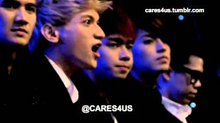 130429 fancam S4 Watching Coboy Junior perform EEAA @ SCTV Music Awards 2013