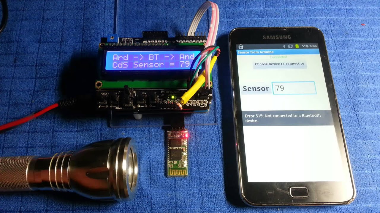 Arduino Data To Android Via Bluetooth App Using