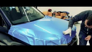 VW Tiguan Hood car wrapping blue bahama gloss | car wrapping