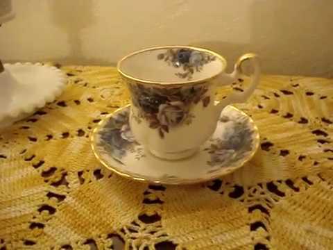Royal Albert Moonlight Rose Demitasse Cup and Saucer Fine China Man