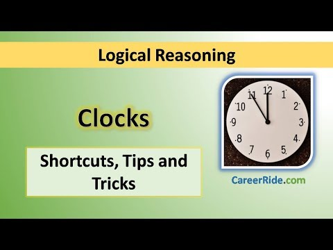 Clocks - Tricks & Shortcuts For Placement Tests, Job Interviews & Exams