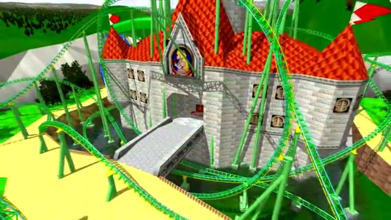 Super Mario 64 Peach Castle Coaster Onride Nolimits 2 Hd 60fps