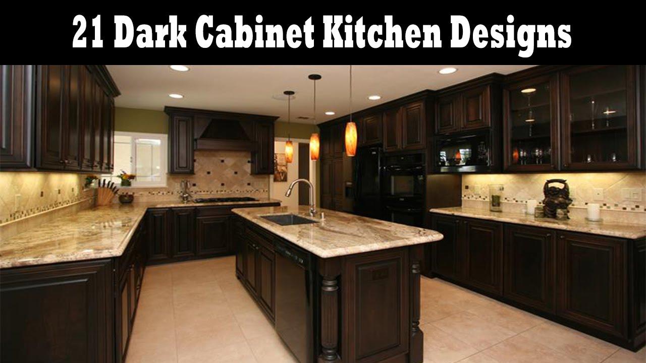 21 Dark Cabinet Kitchen Designs Youtube