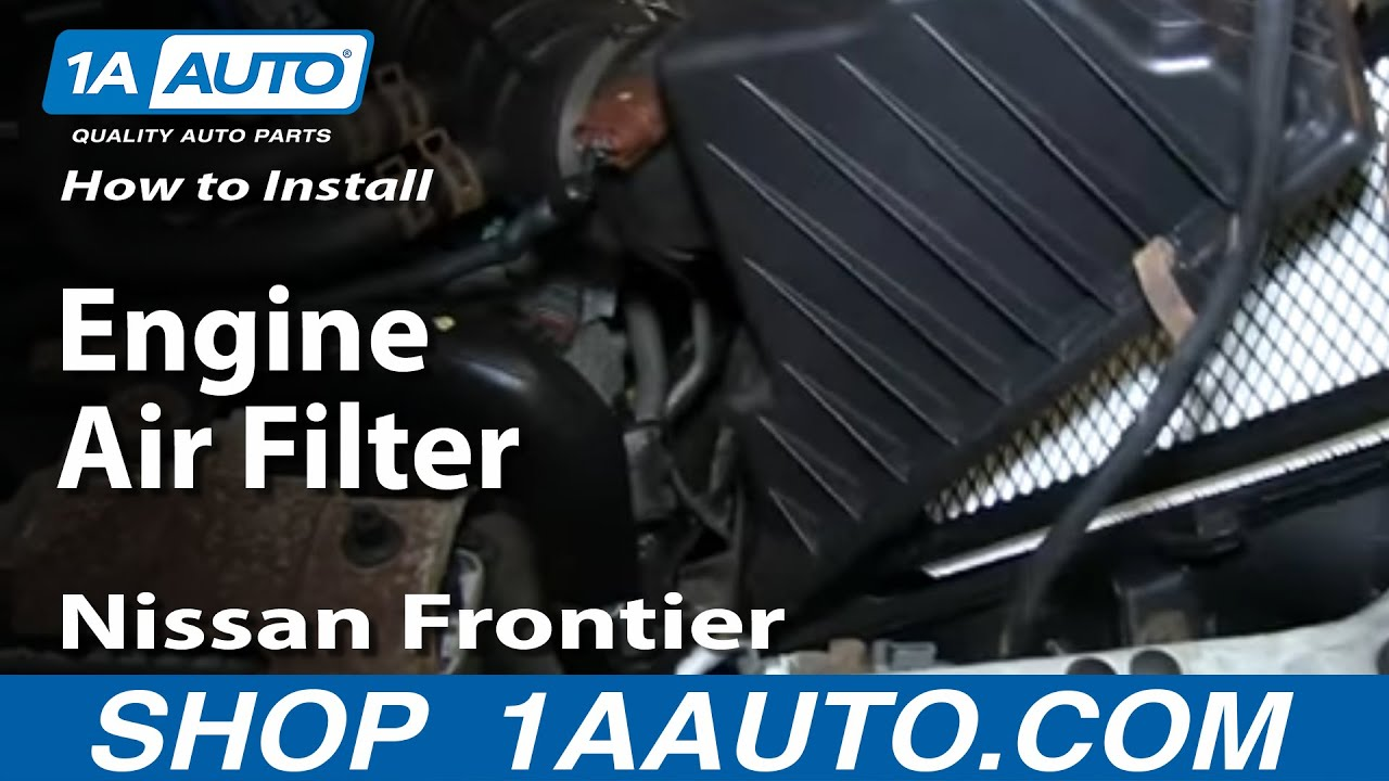 how to install replace engine air filter 2001