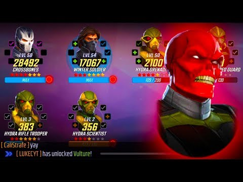 Repeat Vulture Unlock & Rank Up! - MARVEL Strike Force by
