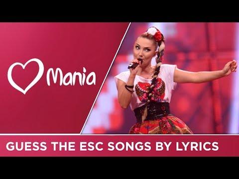 Guess the songs by lyrics! // QUIZ // Eurovision // ESC Mania