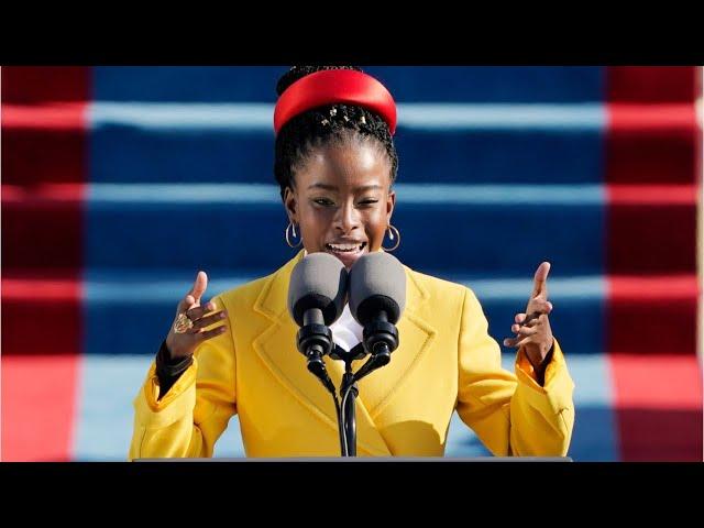就任式で「光はある」 発話障害の22歳黒人詩人に絶賛