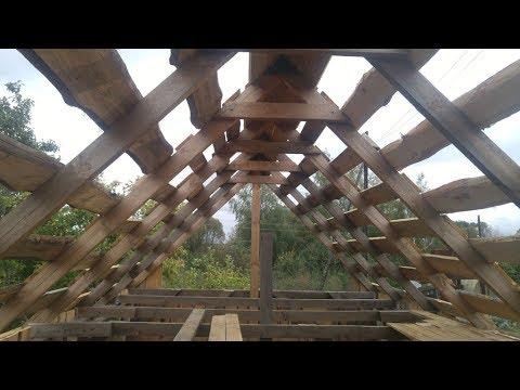 Двускатная крыша стропильная система монтаж своими руками