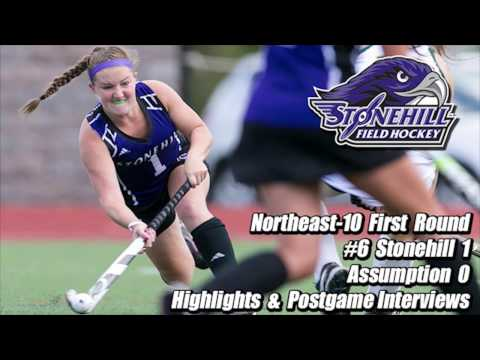 Stonehill Field Hockey Postgame Interviews and Highlights NE-10 First Round vs. Assumption