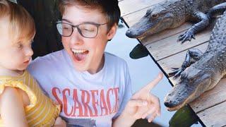 1 Year Old Feeds an Alligator! | Teen Mom Vlog
