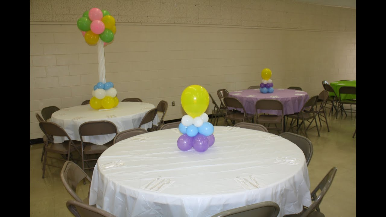 How To Simple And Affordable Balloon Centerpiece Baby