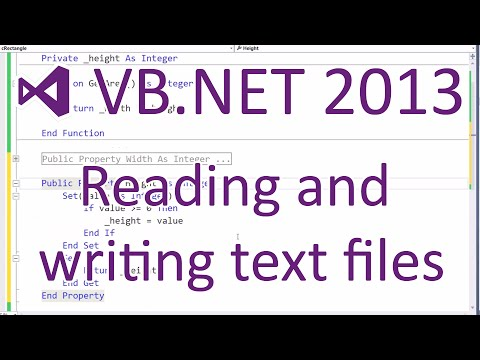 VB.NET 2013 - Reading and Writing Text Files