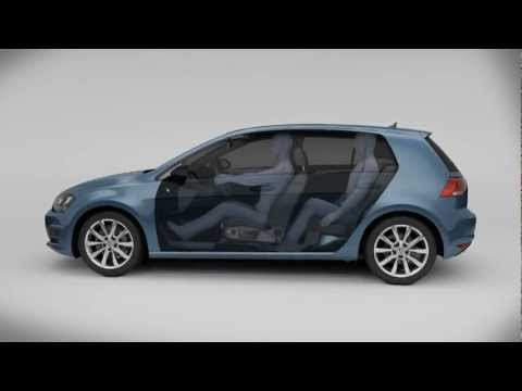 VW Golf 7 - Animation Modularer Querbaukasten MQB (2013)