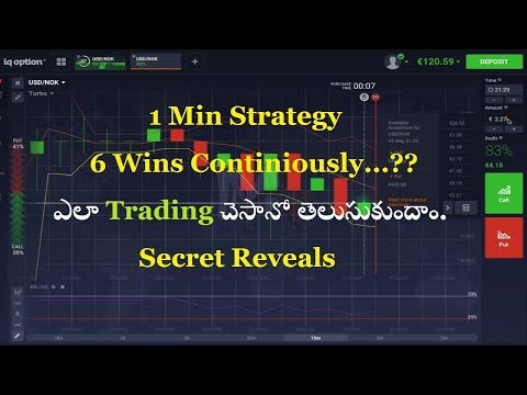 Iqoption 1 Min Trading secret Revealed 90% accuracy. Binary Options Telugu