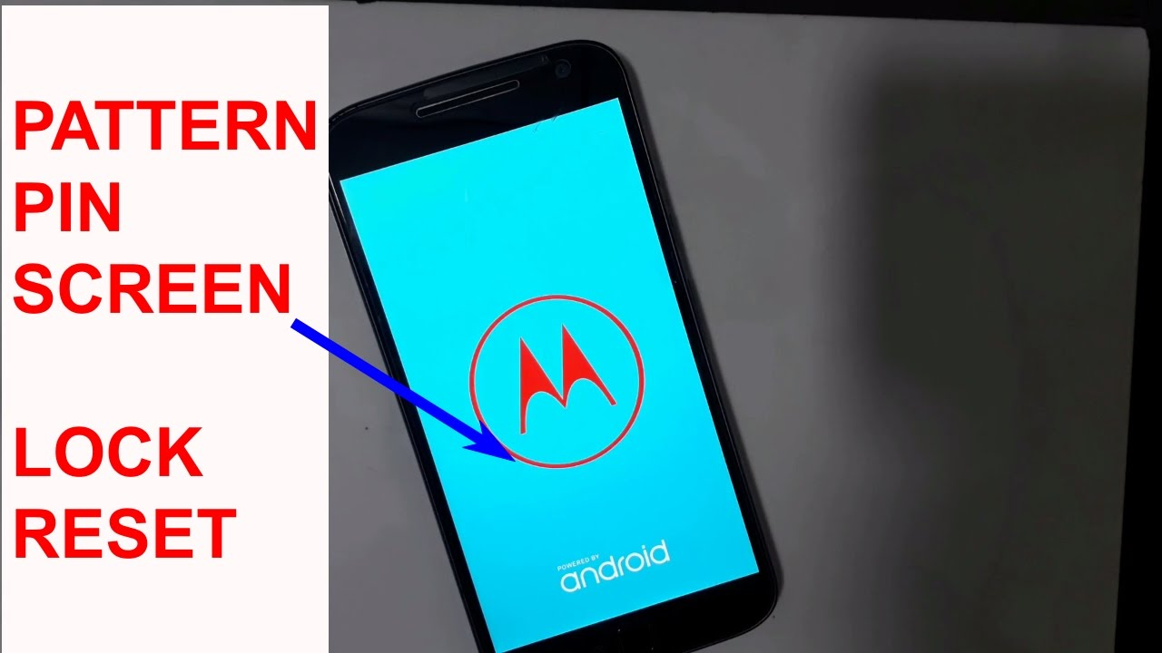 Moto G4 Plus Pattern Lock And Hard Reset Pin Lock Reset Youtube