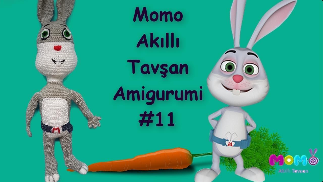Akıllı Tavşan Momo Amigurumi Örgü Örneği 11 | Rabbit Crocheted Stuffed Toy Tutorial