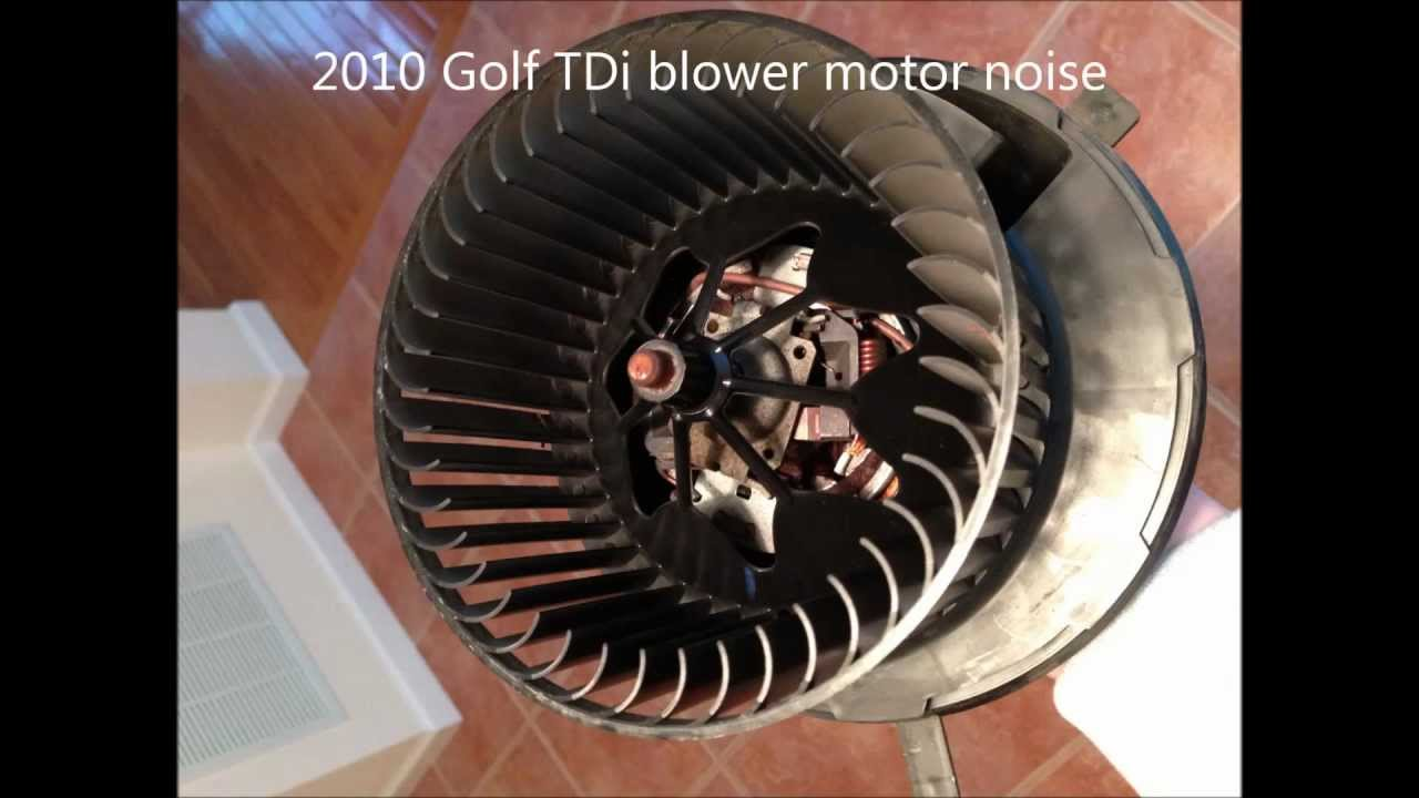 2010 golf tdi hvac blower motor bearing noise youtube for Furnace blower motor noise