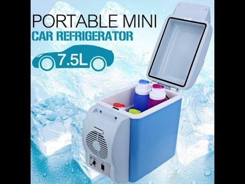 Mini Portable Car Fridge, Cooler & Warmer 7.5 L – 12 V – Blue