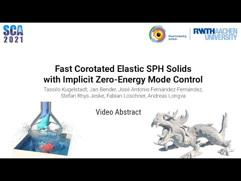 Video Abstract - Fast Corotated Elastic SPH Solids with Implicit Zero-Energy Mode Control