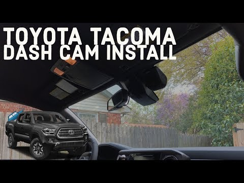 Installing A Dual Dash Cam On Your Toyota Tacoma (2016+)