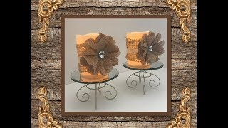 DIY Dollar Tree Shabby Chic Candle Holders....