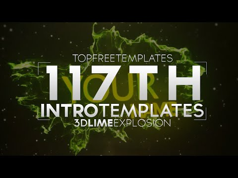 FREE Intro Template: 3D Lime Explosion #117 w/Tutorial