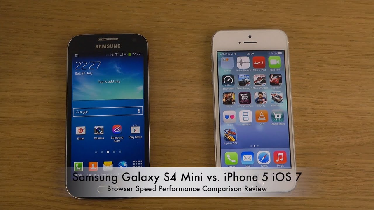 S4 MINI VS IPHONE 5