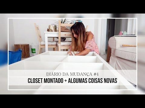 DIÁRIO DA MUDANÇA #4 | Closet montado + Algumas coisas novas