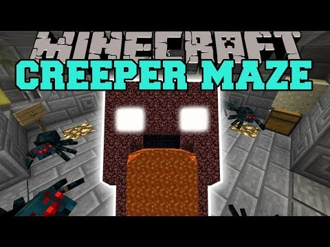 Minecraft: INFINITE CREEPER MAZE (SURVIVE THE BRUTAL ATTACKS!) Mini-Game