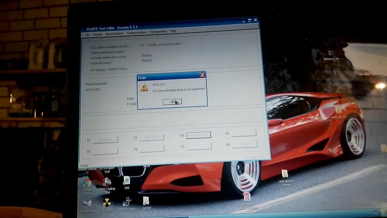 BMW E39 M54 прошиваем на ЕВРО 0, WINKFP