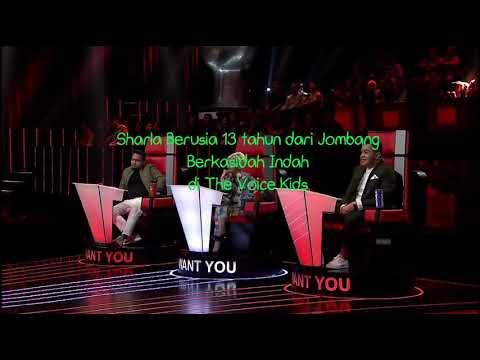 Kasidah Merdu Sharla 13 tahun di The Voice Kids Indonesia