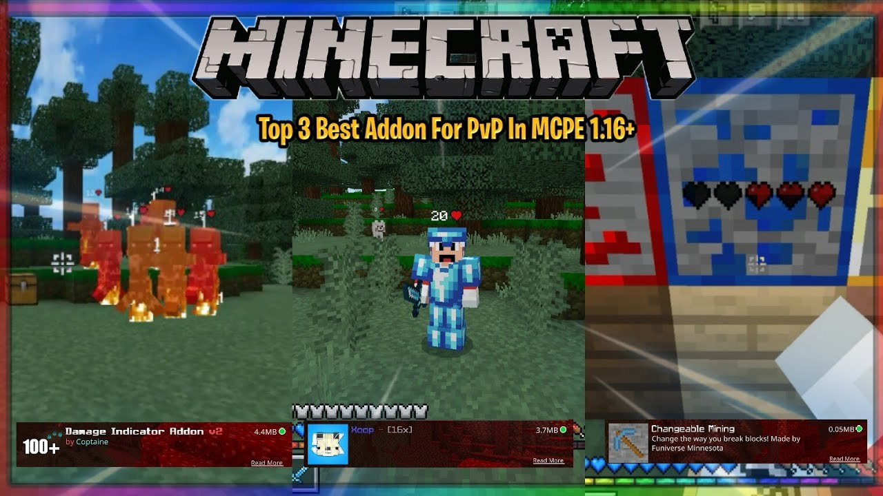 Top 9 Best PvP Addon For MCPE/BE 9.94/9.96+