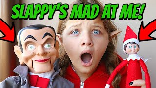 Elf On The Shelf is BACK!! Slappy's NOT HAPPY! Slappy Turns Aubrey Into An Elf