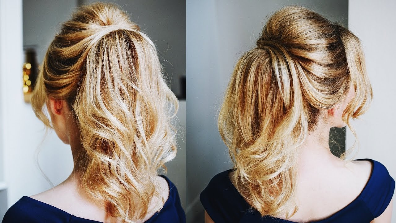how to create big volume with thin hair in a ponytail