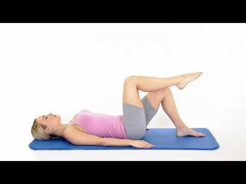 Pilates Knee folds Scissors part 1