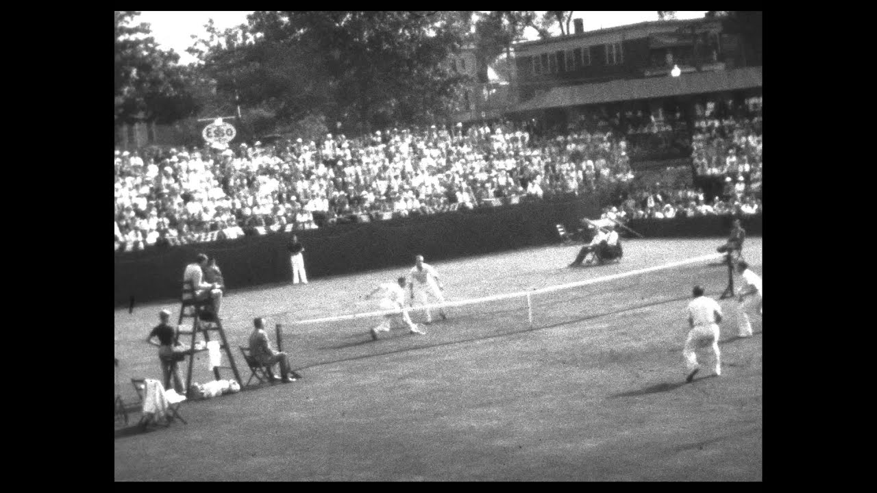 Pro Tennis Match from 1939 Don Budge