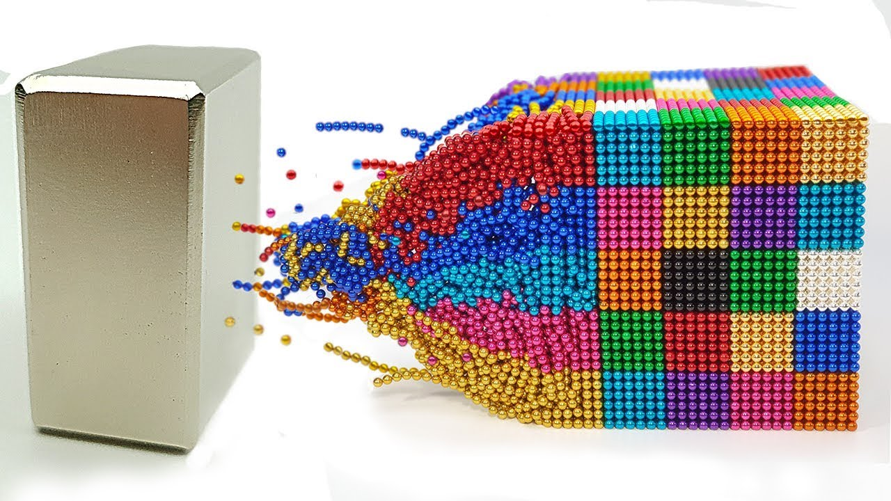 Download Playing with 60 000 Magnetic Balls ⭐ Slow Motion ⭐ 100+1% Satisfying Video