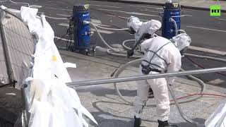 Hazmat team starts cleaning streets near Notre Dame after high levels of lead recorded