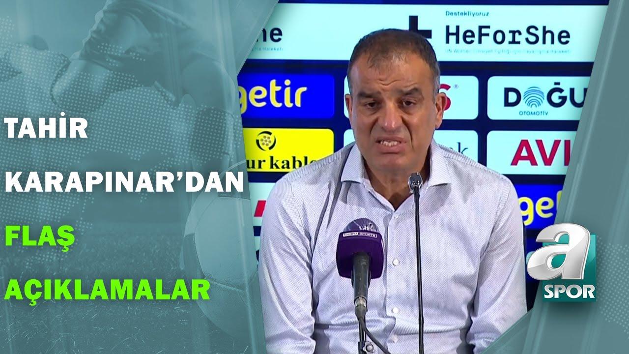 Fenerbahçe 1 - 2 Sivasspor Tahir Karapınar Maç Sonu Basın Toplantısı Düzenledi / A Spor