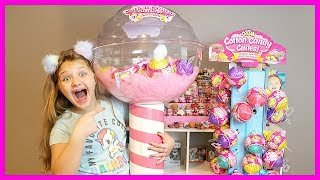 GIANT COTTON CANDY CUTIES! Super Satisfying Cotton Candy Slime! What's Inside FLUFFY SLIME!