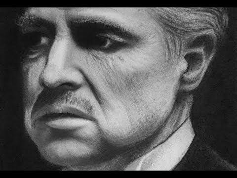 Vito Corleone ( Marlon Brando) Drawing time lapse