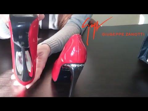 Лодочки Christian Louboutin черный лак 10см - YouTube